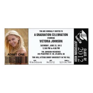 Customizable Color Graduation Admission Ticket 4x9.25 Paper Invitation Card