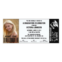 Customizable Color Graduation Admission Ticket 4x9.25 Paper Invitation Card