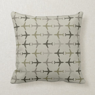 Customizable Color Monochromatic Planes - Olive Throw Pillow