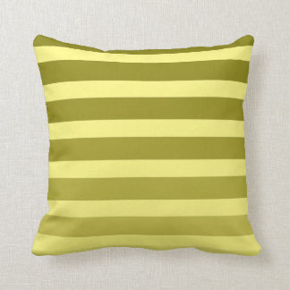 Customizable Color Monochromatic Stripes Throw Pillow