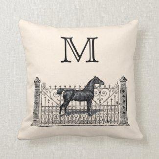 Customizable Color Monogram Equestrian Pillows
