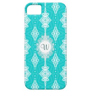 Customizable Color Monogram Lace iPhone SE/5/5s Case