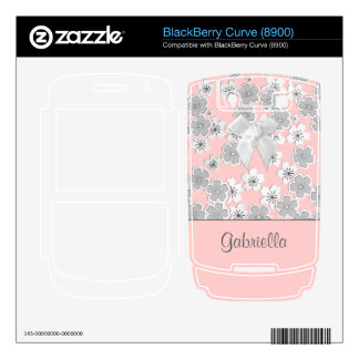 Customizable Color Personalized Japanese Floral Skins For BlackBerry