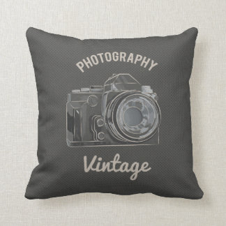CUSTOMIZABLE COLOR - Photography Vintage Throw Pillow