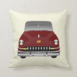 CUSTOMIZABLE COLOR - Retro Car 51 DeSoto - Maroon Throw Pillow