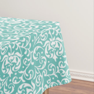 Customizable Color Tudor Gardens Floral Damask Tablecloth