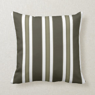 CUSTOMIZABLE COLOR - Vertical Stripes -  Olive Throw Pillow