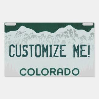 Customizable Colorado license plate stickers