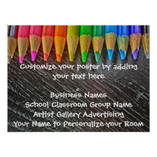 Customizable colored pencil artistic poster