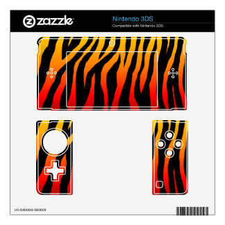 Customizable Colorful Hot Zebra Decals For The 3DS