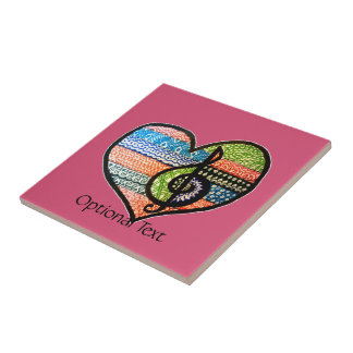 Customizable Colorful Music Lovers Heart Tile
