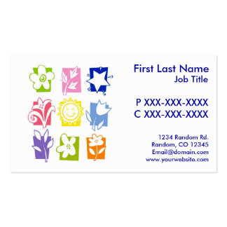 Customizable colorful plant symbols business cards