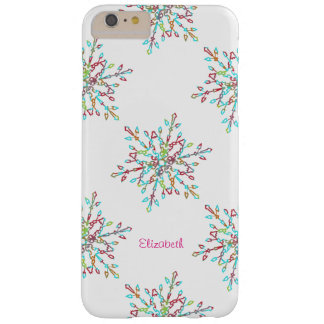 Customizable Colorful Snowflake Holiday Barely There iPhone 6 Plus Case