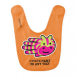 Hand shaped Customizable Colorful Zebra Bib