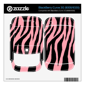 Customizable Colorful Zebra BlackBerry Decals