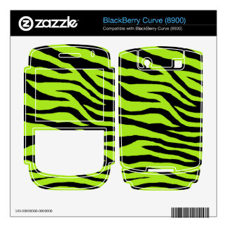 Customizable Colorful Zebra Decal For BlackBerry