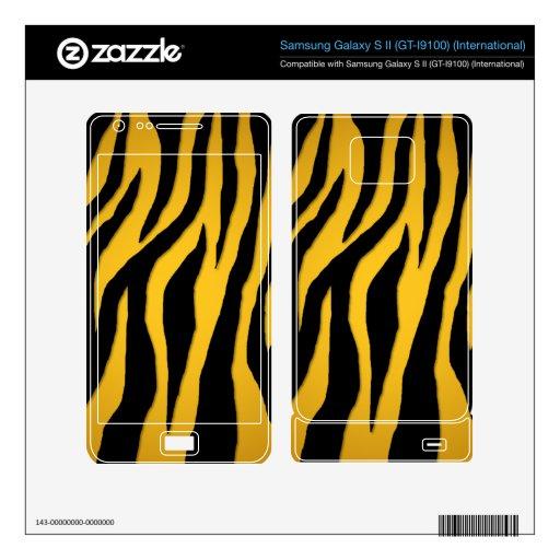 Customizable Colorful Zebra Samsung Galaxy S II Decal