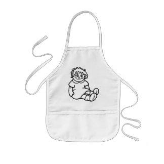 Customizable coloring apron
