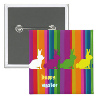 Customizable: Colour bunnies Pinback Button