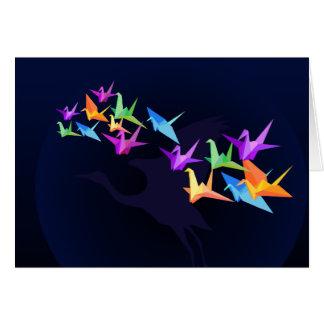 Customizable: Colour cranes Card