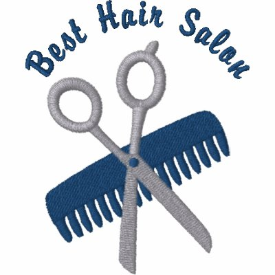 Customizable Comb, Scissors Emb. Stylist Tees