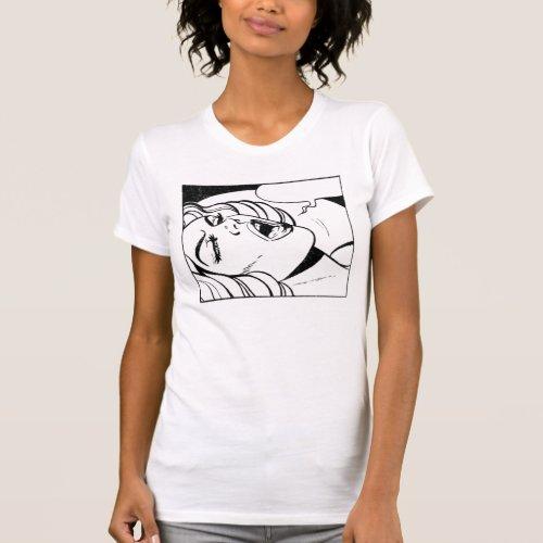 CUSTOMIZABLE COMIC BUBBLE SCREAMING O GIRL T-Shirt