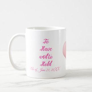Customizable commemorative Wedding Engagement mug