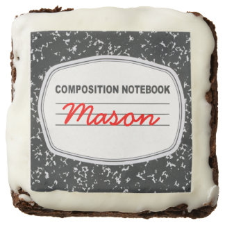 Customizable Composition Notebook Brownies Square Brownie