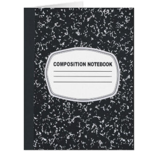 Customizable Composition Notebook Greeting Card