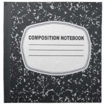 Customizable Composition Notebook Napkins