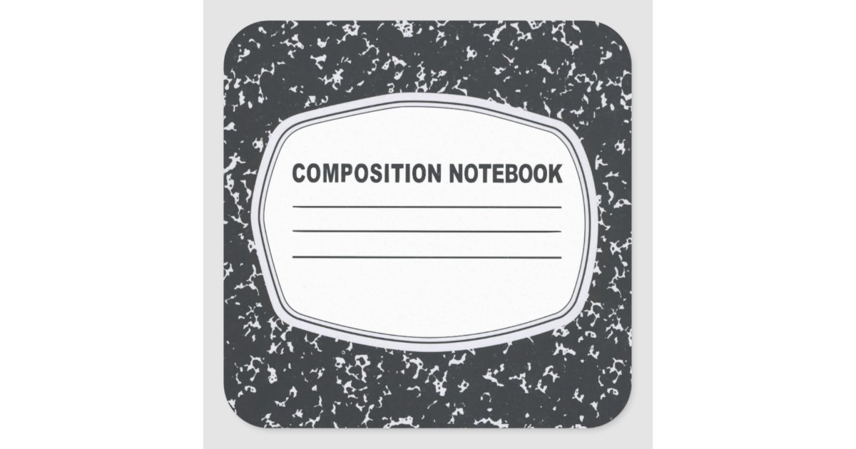 composition notebook composition book stickers zazzle