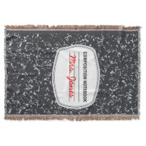 Customizable Composition Notebook Throw Blanket