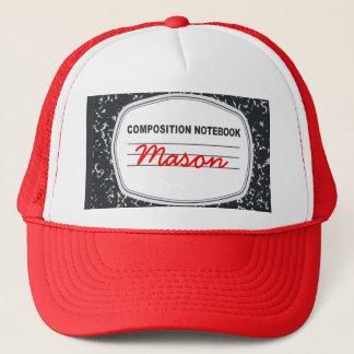 Customizable Composition Notebook Trucker Hat