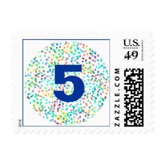 Customizable Confetti Birthday Stamp