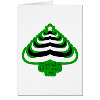 Customizable Cool and fun Mustache Christmas Tree Greeting Card
