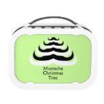 Customizable Cool and fun Mustache Christmas Tree Yubo Lunchbox