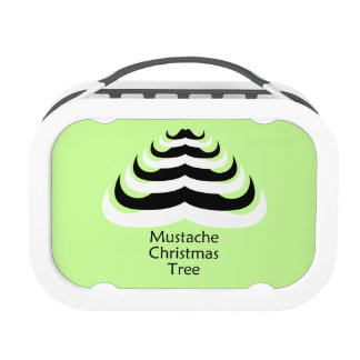 Customizable Cool and fun Mustache Christmas Tree Replacement Plate