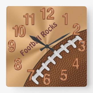 Customizable Cool Football Clocks for Guys