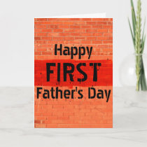 Customizable Cool Unique Photo First Father's Day Card