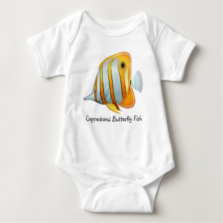 Customizable Copperband Butterfly Fish Infant Cree Tee Shirt