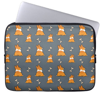 Customizable Corgi Butt Pattern Case | CorgiThings Laptop Sleeve