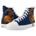 Customizable Cougars or Wildcats Basketball Player High-Top Sneakers