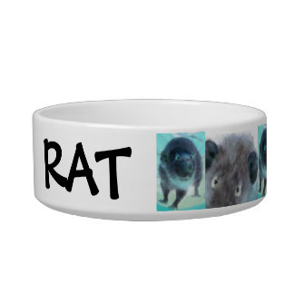 customizable crazy fuzzy blue rats feeding bowl pet food bowls
