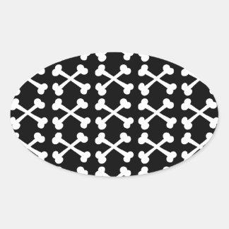 Customizable Crossbones Oval Sticker