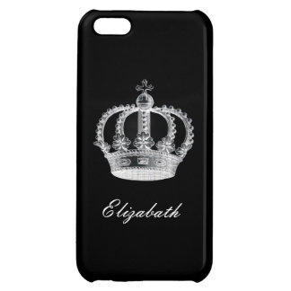 Customizable Crown Black Case For iPhone 5C