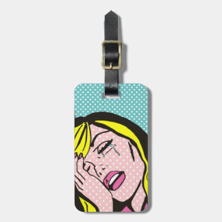Customizable Cry Me a River Comic Book Luggage Tag