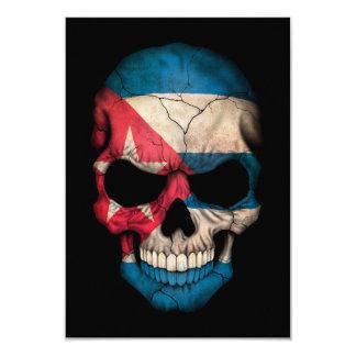 Customizable Cuban Flag Skull Announcements