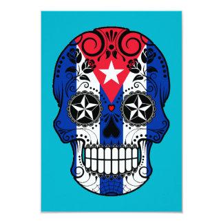 Customizable Cuban Flag Sugar Skull with Roses Invitations
