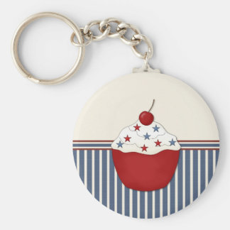 Customizable Cupcake Basic Round Button Keychain