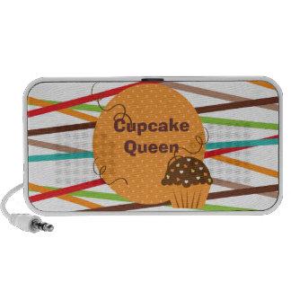 Customizable Cupcake Queen  Doodle Speakers